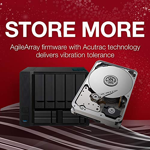 Seagate IronWolf 14TB NAS Internal Hard Drive HDD - 3.5 Inch SATA 6Gb/s 7200 RPM 256MB Cache for RAID Network Attached Storage (ST14000VN0008) by Seagate (Image #3)