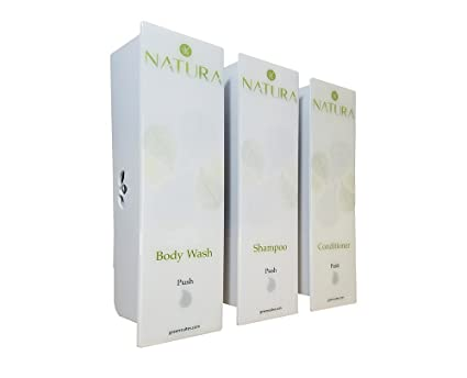 ODYSSEY White Natura Trio Soap, Shampoo & Conditioner Dispenser