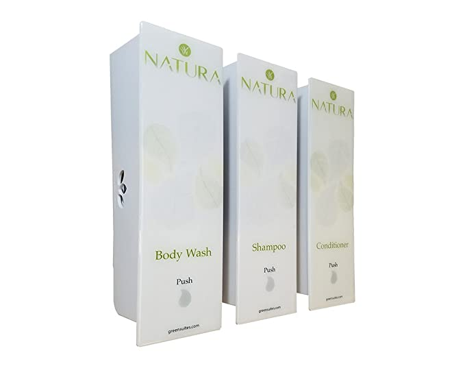 Amazon.com: ODYSSEY White Natura Trio Soap, Shampoo & Conditioner Dispenser: Home & Kitchen