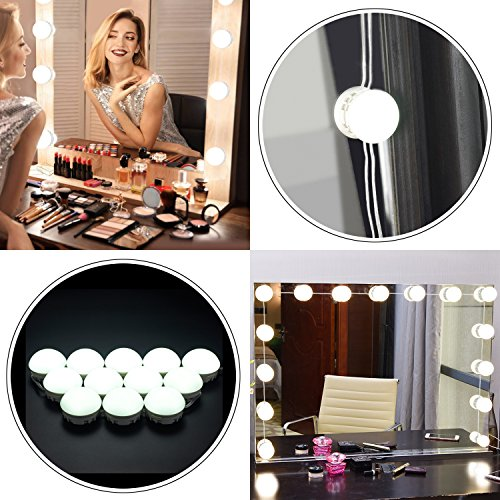Hollywood Lights Bathroom: XBUTY Vanity Lights Hollywood Bathroom LED Makeup Mirror