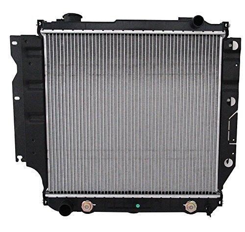 (Klimoto Brand New Radiator fits Jeep TJ 1997-2006 Wrangler 1987-2006 2.4L 2.5L 4.0L 4.2L CH3010221 040876420151 52028120 5200612 CU1682 RAD1682 DPI1682)