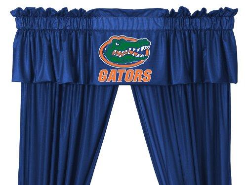 University Drape (Set of 2 (Two) Florida University Gators 5 Pc Valance/Drape Set (Drapes Size 82 X 63) - SAVE ON BUNDLING!)