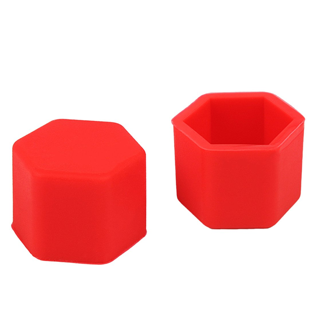 Red Larcele Silicone Wheel Lug Nut Covers 17mm 20PCS LSBHT-01