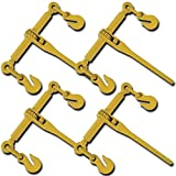 GHP Pack of 4 5400Lbs Work Load Limit Cam & Prawl Ratchet Load Binder w 14'' Handle