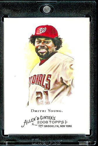 2008 Topps Allen and Ginter # 320 Dmitri Young SP - Short Print ( Washington Nationals ) MLB Baseball Card in Protective Display Case!