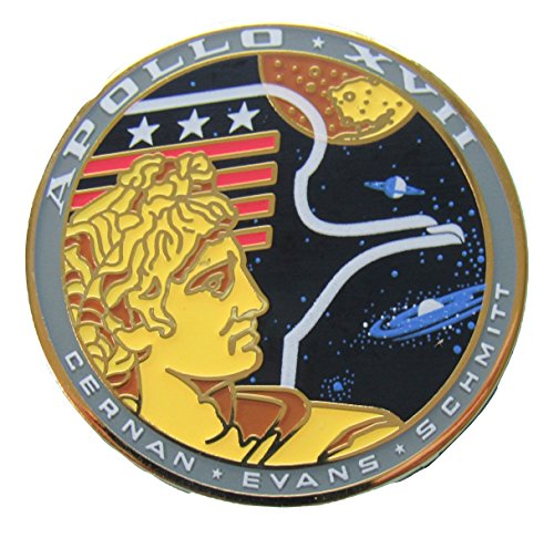 Apollo 17 Lapel Pin Official Nasa Edition Cernan Evans Schmitt Space ()