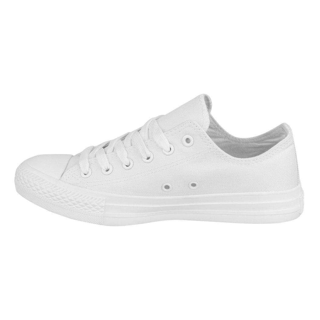 Elara Unisex Sneaker | Bequeme Herren Sportschuhe für Damen und Herren Bequeme | Low Top Turnschuh Textil Schuhe All White New f74fbd