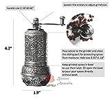Bazaaranatolia Turkish Grinder, Spice Grinder, Salt Grinder, Pepper Mill 4.2 (Dark Silver)