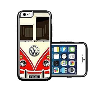RCGrafix Brand Vw Bus Front Red iPhone 6 Case - Fits NEW Apple iPhone 6