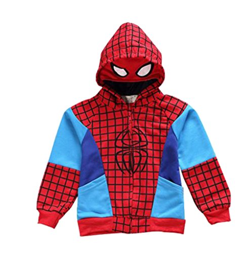 SOPO Spiderman Jacket Hoodie 1-6Y Baby Boys Kid Winter Coat Outerwear