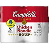 Campbell's Condensed Chicken Noodle Soup, 10.75 oz Can, (Pack of 4)