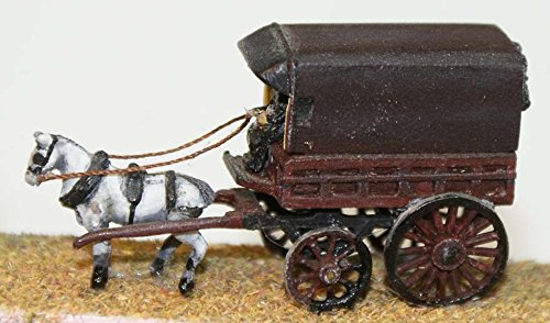 Langley Models Horse Drawn Cart / Parcel van 1 horse N Scale UNPAINTED Kit E14