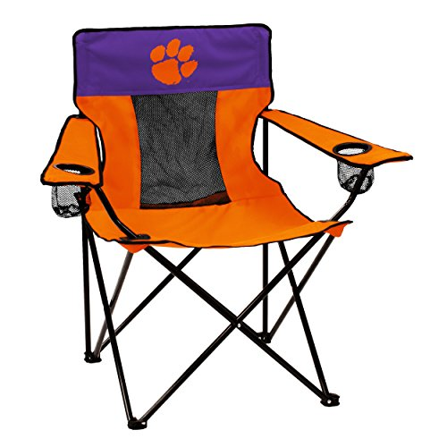 Chair Tailgate Tailgating Folding (Logo Brands Collegiate Clemson Tigers Elite Chair)