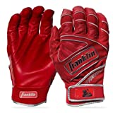 Franklin Sports Chrome Powerstrap Batting Gloves - Red - Adult X-Large