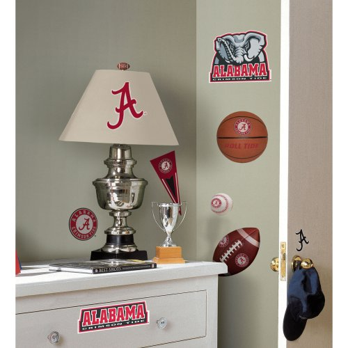 Roommates rmk1099scs university of alabama peel stick for Alabama football wall mural