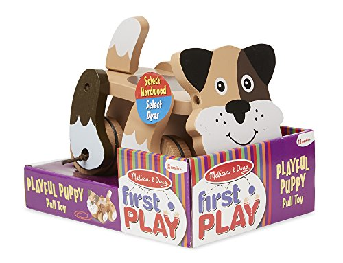 51PZ34aAHXL - Melissa & Doug Playful Puppy Wooden Pull Toy for Beginner Walkers