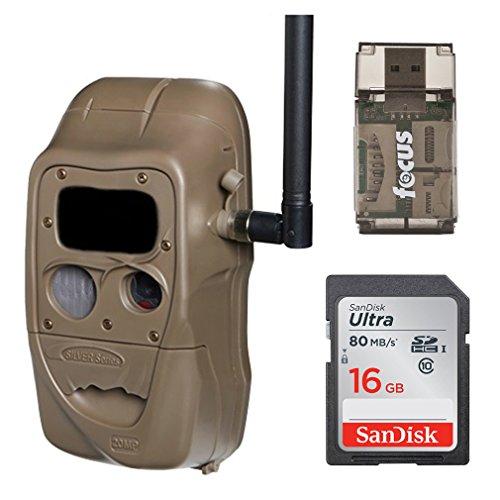 Cuddeback CuddeLink J Series (J-1422) Black Flash 20MP Trail Camera with Memory Card and Focus USB Reader