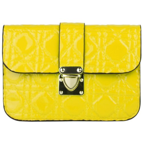 Handbags Yellow Junior - Yellow Quilted Women's Clutch Wallet Pouch for BLU Win HD and Win Jr.