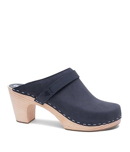 d9bf00acfffc4 Sandgrens Swedish Clog Mules High Rise Wooden Heel for Women | Maya