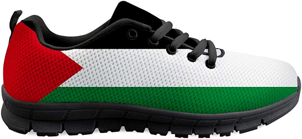 Owaheson Lace-up Sneaker Training Shoe Mens Womens Palestine Flag