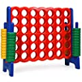 Costway Jumbo 4 To Score Giant Game Set 4 In A Row For Kids And Adults 3 5ft Tall Indoor Outdoor Game Set With 42 Jumbo Rings Quick Release Slider Perfect For Holiday Party Family Game