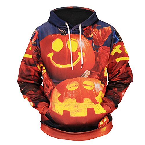 Asian Couple Costume Ideas (Haocloth Unisex 3D Printed Hoodies Halloween Fashion Digital Print Hoodies Couple 3D Printed Hoodies Halloween Costume)