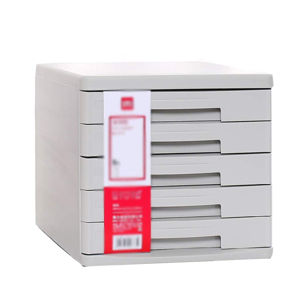 ファイルキャビネットデスクトップロッカープラスチックファイルボックス5階引き出しタイプ白/黒 (色 : B) B07MKRB9M6 B