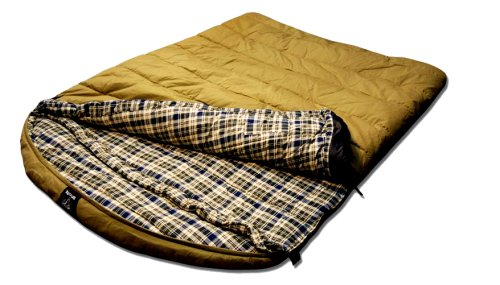 Grizzly 2 Person 0 Degree Canvas Sleeping Bag (Olive), Outdoor Stuffs