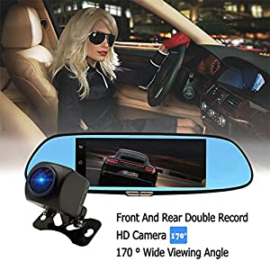3G Rearview Mirror Camera Android Dash Cam 7.0 inch Touch Car DVR C08 Mirror Monitor Kit Bluetooth Wifi Dual Lens Car Video Recorder