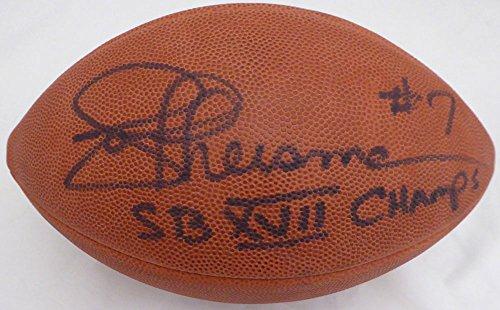 (Joe Theismann Autographed Wilson NFL Leather Football Washington Redskins SB XVII Champs Beckett BAS #E95615)