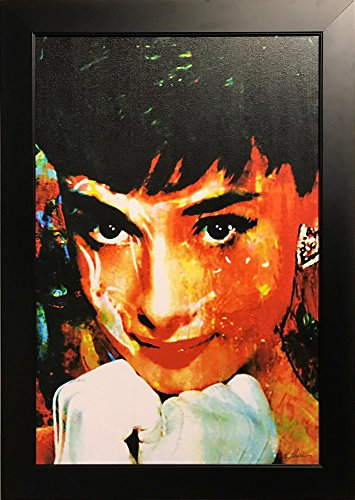 Tiffany Delight - Audrey Hepburn - Limited Edition Giclee Celebrity Pop Art Famous People Artwork Popular Culture Painting by Renowned Artist Mark Lewis