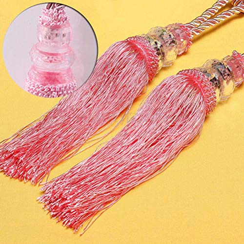 (Curtain Decorative Accessories - 2pcs Curtain Tassels Hang Ball Small Crystal Double Rural Tieback - White Rings Clips Push Industrial Orange Wall Crystal Antique Tree 2-pack Rose Gray Grey Br)