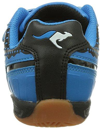 KangaROOS KangaField 3014 - Zapatillas deportivas para interior de material sintético infantil negro - Schwarz (black/blue 544)