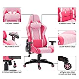 Racing Style Leather Gaming Chair Breathable