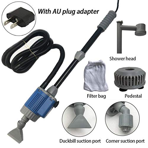 HKJKJLL 28W Electric Aquarium Fish Tank Water Change Pump Cleaning Tools Water Changer Gravel Cleaner Water Filter,Au by HKJKJLL