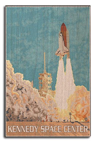 Poster Bedroom Set Free Ship - Cape Canaveral, Florida - Kennedy Space Center (10x15 Wood Wall Sign, Wall Decor Ready to Hang)