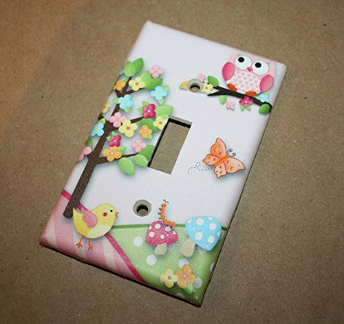 Owls Love Birdies Girls Bedroom Light Switch Cover LS0038 (Single Standard) Toad and Lily LS0038a
