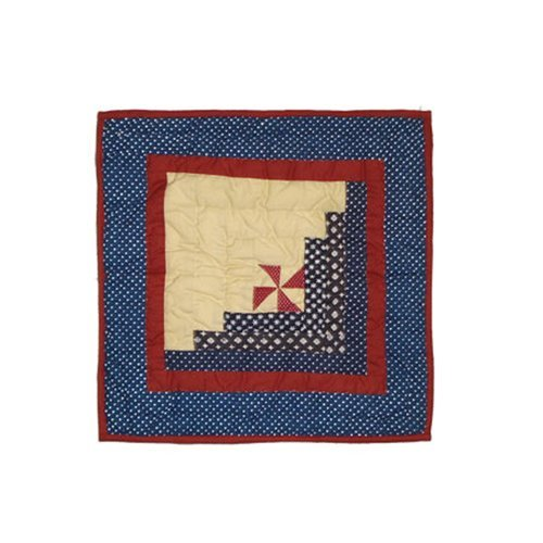 OKSLO Patch Magic Midnight Log Cabin Cotton Throw Pillow