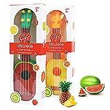 Johouse Fruit Ukulele Guitar, 2 Set Musical Study Instrument 4 String Fruit Guitar Mini Musical Instrument Toys for Children