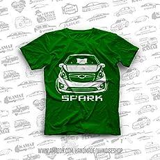 Chevrolet Spark Original T-Shirts Chevy Spark 100% Cotton Free Shipping