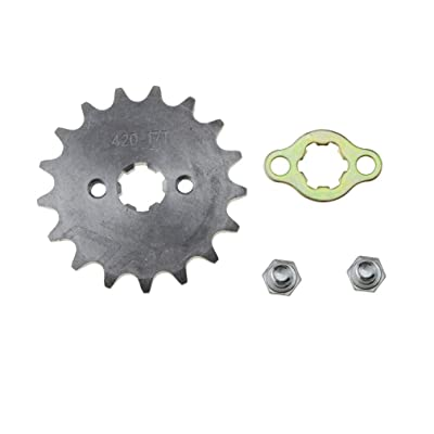 WOOSTAR Front Sprocket 420-17T 17mm for Motorcycle: Automotive
