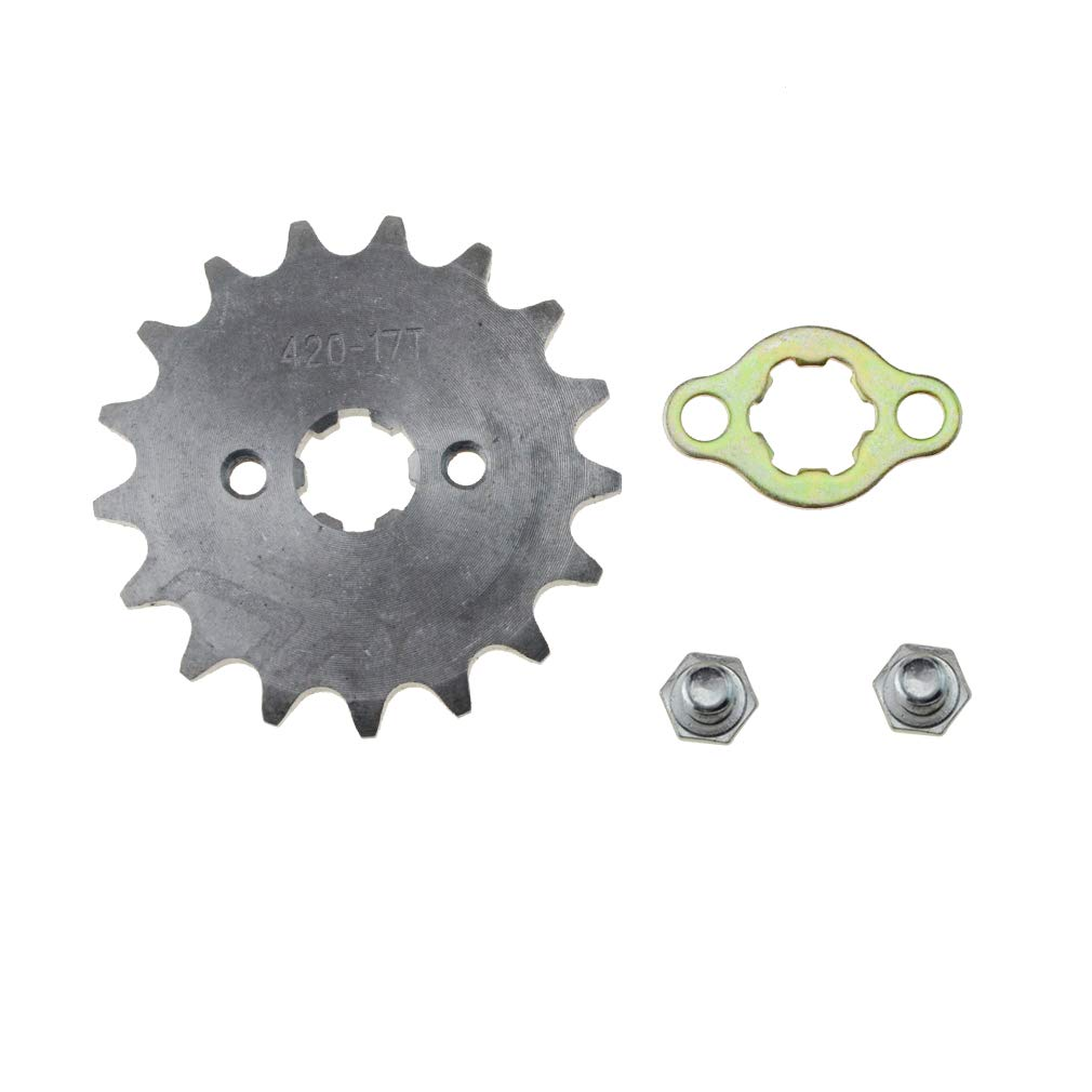 WOOSTAR Front Sprocket 420-17T 17mm for Motorcycle