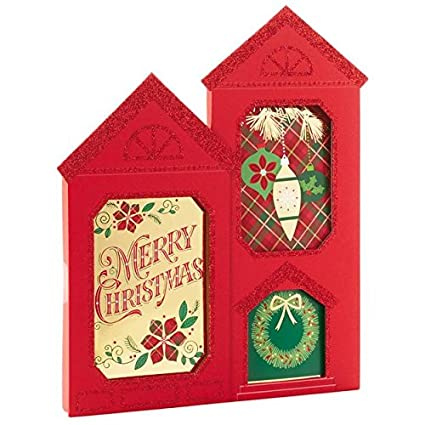 Amazoncom Hallmark House Shaped Assortment Box Christmas