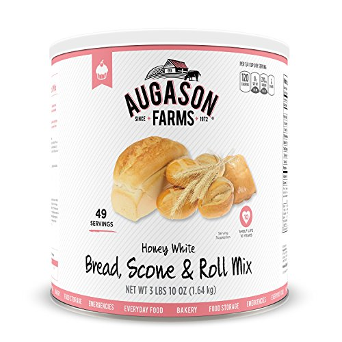 Augason Farms Honey White Bread Scone & Roll Mix Emergency Food Storage #10 Can (Long Term Storage Food compare prices)