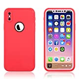 [Red] Waterproof Case Compatible iPhone X, Snake90 Phone Case Underwater Protect IP68 Waterproof for Swimming Boating Surfing Skiing, Multi-Functions Snowproof Shockproof Dustproof