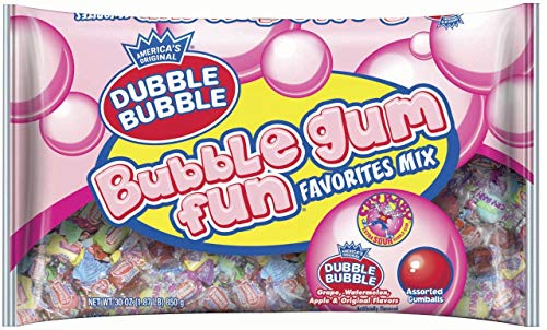 - Dubble Bubble Gum Fun Favorites Mix, 30 oz Bag