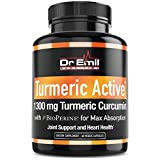 Organic Turmeric Curcumin with BioPerine (95% Curcuminoids - Max Potency) - Vegan, Non-GMO Supplement for Joint Support, Mobility and Pain Relief (60 Veggie Turmeric Capsules)
