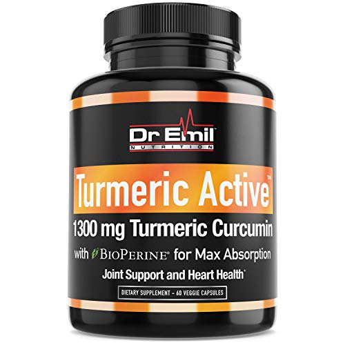 Organic Turmeric Curcumin with BioPerine (95% Curcuminoids – Max Potency) – Vegan, Non-GMO Supplement for Joint Support, Mobility and Pain Relief (60 Veggie Turmeric Capsules)