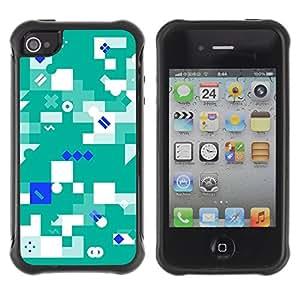 Pagándola híbrido caso de goma carcasa accesorio Gerneration-II Compatible protectora con Apple iPhone 4 y 4S - mielodisplasia verde