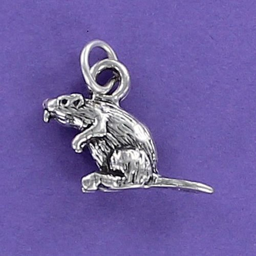 - Beaver Charm Sterling Silver Large Nocturnal Rodent Flat Tail Dams Oregon OSU - Jewelry Accessories Key Chain Bracelets Crafting Bracelet Necklace Pendants